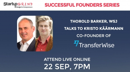 TrasferWise and WSJ Editor at Startup Grind London