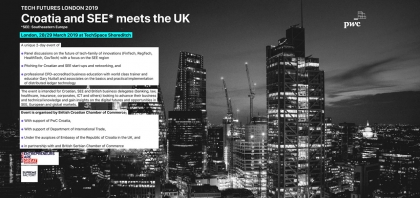 Tech Futures London event 2019 - Croatia and SEE meets the UK