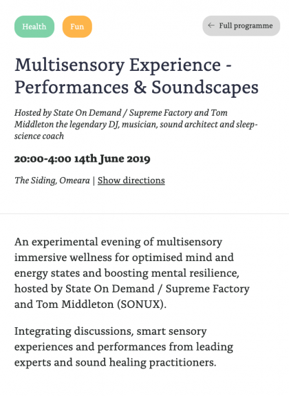 Multisensory Experience - Performances & Soundscapes