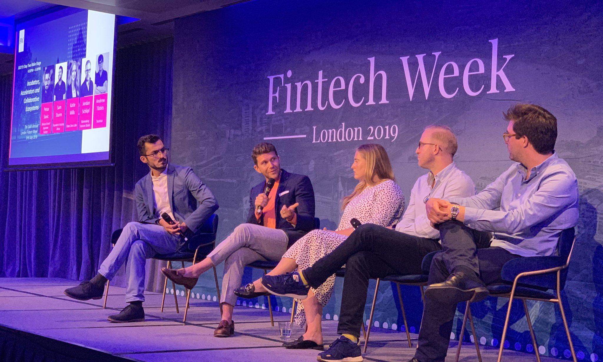 London Fintech Week - Incubators, Accelerators and Collaborative Ecosystems