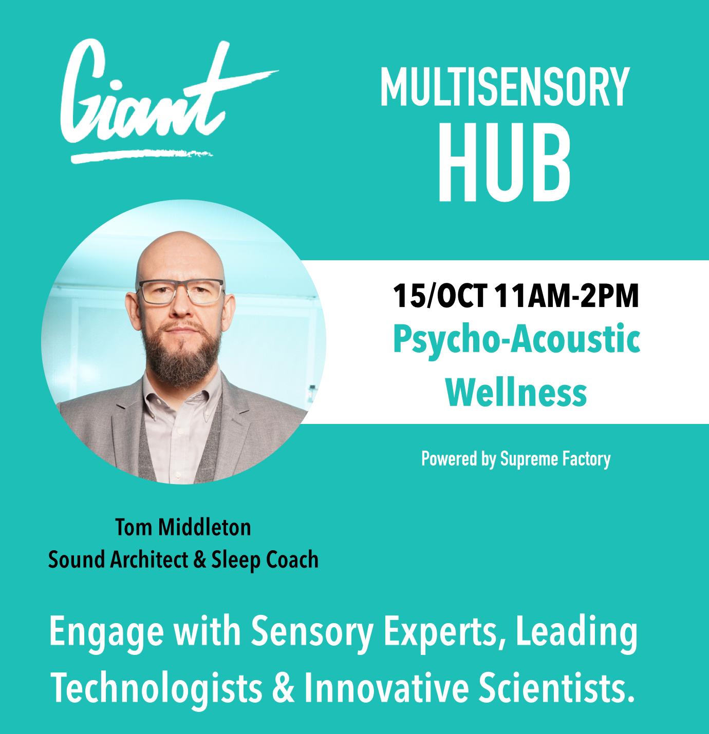 Tom Middleton, Sound Architect & Sleep Coach CEO & Founder, Sonux