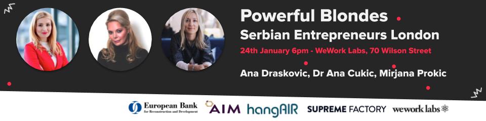 Serbian Entrepreneurs London Linkedin Event Poster