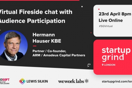 Fireside chat with Hermann Hauser, co-founder of ARM and Amadeus Capital Partners