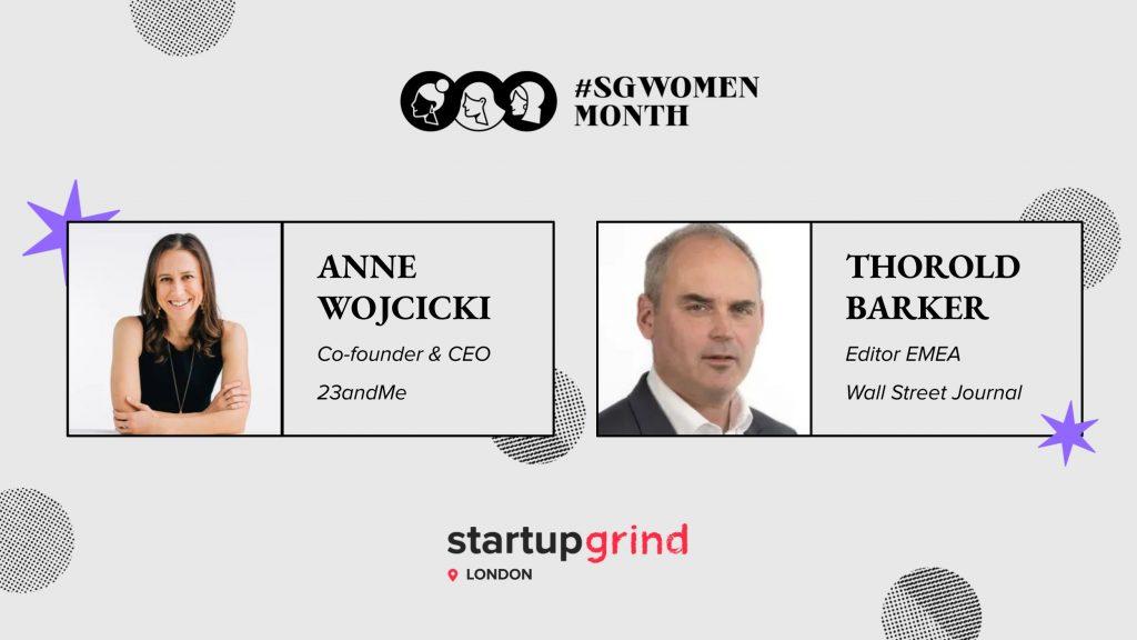 Fireside chat Anne Wojcicki and Thorold Barker