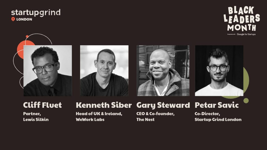 """As a part of Black Leaders Month, Startup Grind London hosted a panel discussion about """"Learning for Founders"""""""