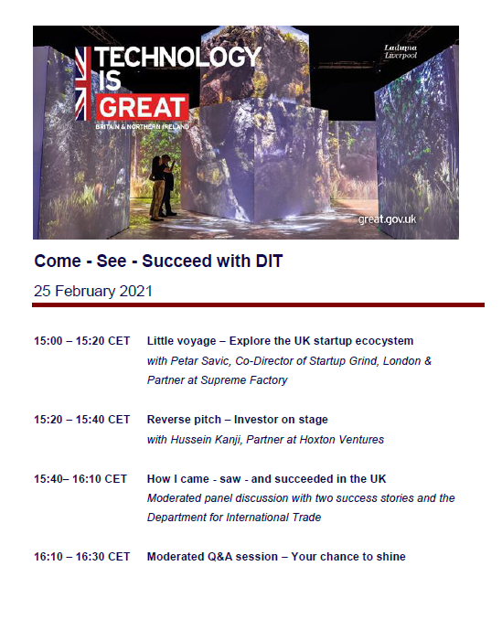 Come-See-Succeed with DIT seminar about UK expansion