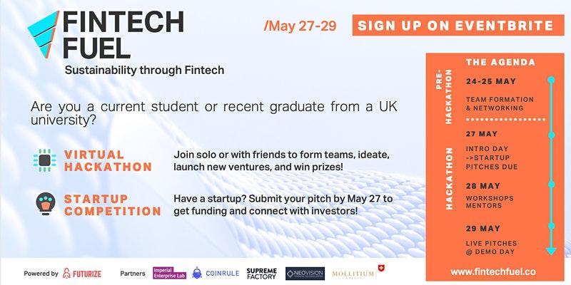 FinTech Fuel 2021: UK Hackathon & Startup Competition